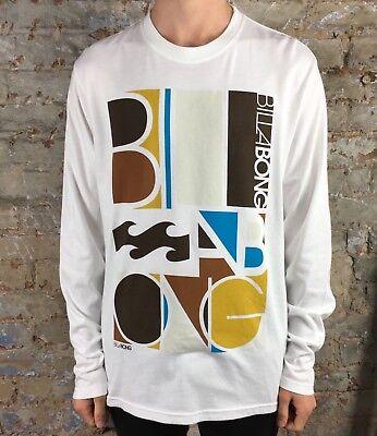 Billabong Volt Tips Long Sleeve T-Shirt Brand New in White Size L