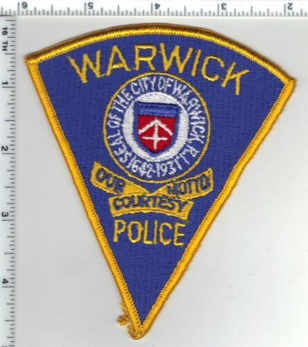Warwick Police (Rhode Island) 1st Issue Shoulder Patch