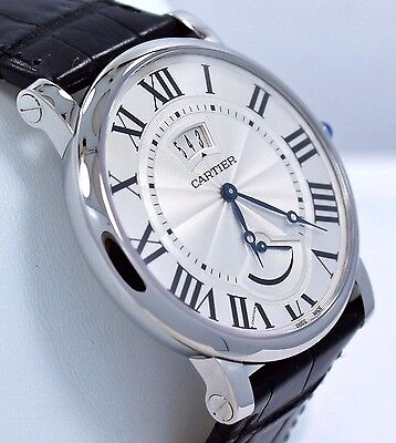Cartier Rotonde W1556369 40mm Silver Dial Manual Watch BOX/PAPERS *BRAND NEW*