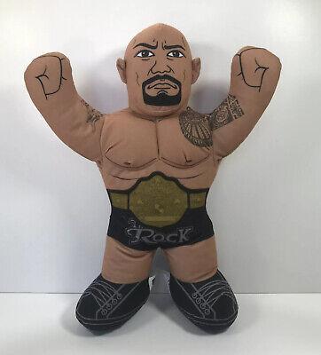 "2012 The Rock WWE 16"" Brawlin Buddies Mattel Plush Wrestling Toy Dwayne Johnson"