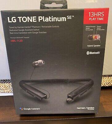 LG Tone Platinum SE HBS-1120 Wireless Stereo Headset Black