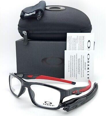 NEW Oakley Crosslink MNP RX Frame Polished Black Ink Red OX8090-0353 GENUINE 55