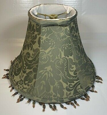 Fabric Bell-Shaped Lamp Shade in Green Height 9