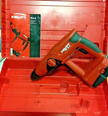 Hilti Te 2-a Hammer Drill 24 Volt Cordless Wbattery Case Manual