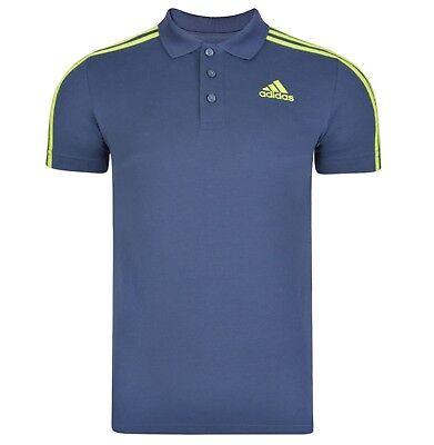 New Men's Adidas Essentials Climalite Cotton Polo Shirt T-Shirt - Grey
