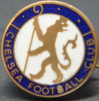 CHELSEA FC Rare vintage club crest type badge Brooch pin In gilt 16mm Dia