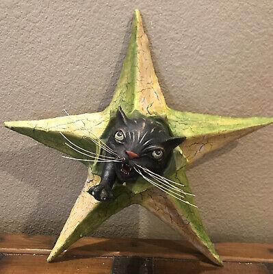 Bethany Lowe Vergie Lightfoot Halloween Black Cat in Star—Retired 2015