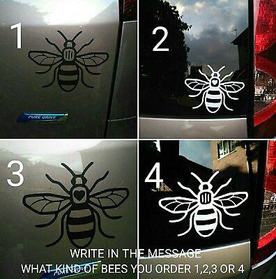 4x Manchester bee car sticker