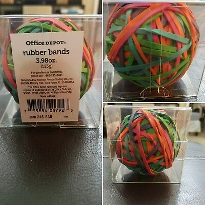Office Depot Multicolored Rubber Band Ball 3.98oznibfast Shipping To Usa