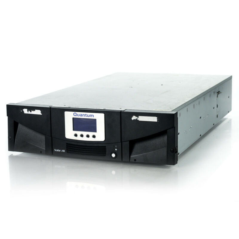 Quantum Scalar i40 Tape Library w/ (2) LTO6 Tape Drives 3-05236-01 3-06572-01