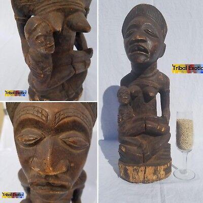 FOREMOST Kongo Bakongo Maternal Statue Figure Sculpture Mask Fine African Art