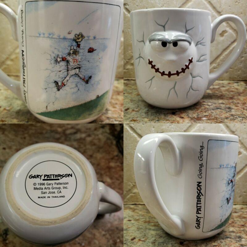 "Vintage Gary Patterson 1996 Baseball ""Going Going"" Coffee Mug / Cup"