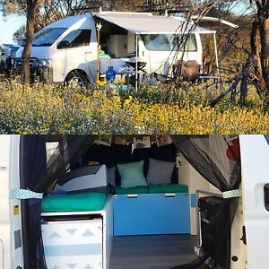 2007 Toyota Hiace Commuter Campervan with Solar North Beach Stirling Area Preview