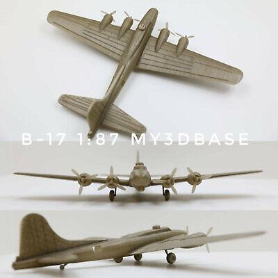 Boeing B-17 1:87 (H0) model kit 3d printed ()