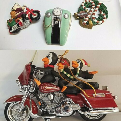 HARLEYDAVIDSON THREE FOR THE ROAD CHRISTMAS ORNAMENT W/ 3 BONUS ORNAMAMENTS