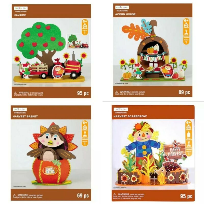 3D Foam Thanksgiving Activity Kits Your Choice Ages 6+ Creatology