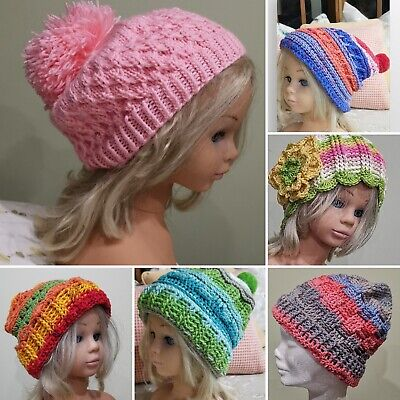 Knitting Patterns Beanie Hats (6 ORIGINAL Retro Vintage Inspired Crochet and Knitting Kids Hat Beanie Patterns )