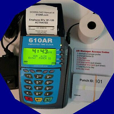610ar Portable Digital Employee Time Clock Punch Or Swipe Payroll