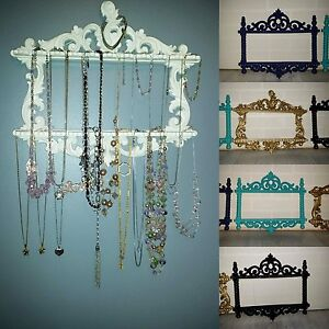 Repurposed spoon holders made into jewelry holders
