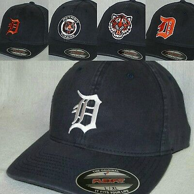 "Detroit Tigers ""FLEX FIT"" CAP ⚾HAT ⚾CLASSIC MLB PATCH/LOGO ⚾3 SIZES 5 STYLES⚾NEW"