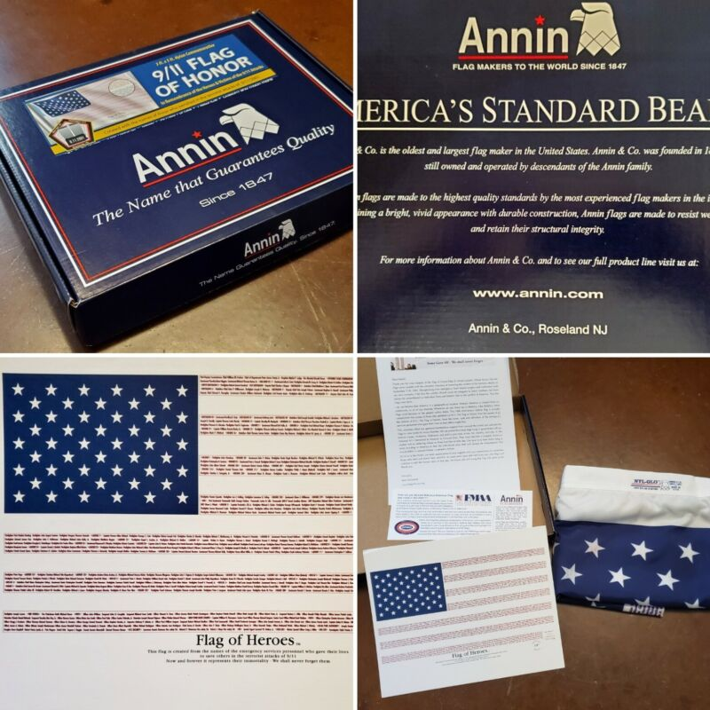 NEW Annin 9/11 Flag Of Honor Nylon 3'x5' Remembrance 10th Anniversary Edition