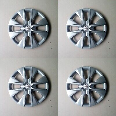 4 New Hubcaps Fits TOYOTA COROLLA 2014 2015 2016 15 inch Wheelcover Yaris Camry