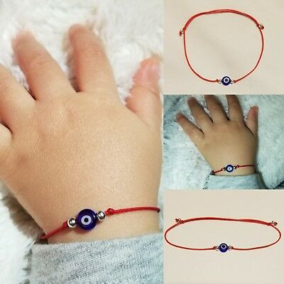 Baby Infant Evil Eye Bracelet Newborn Azabache Hamsa Mal de Ojo Blessed Gift Infant Baby Bracelet