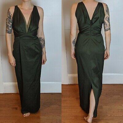 Talbot Runhof Sleeveless V-Neck Layered Gown 38/8