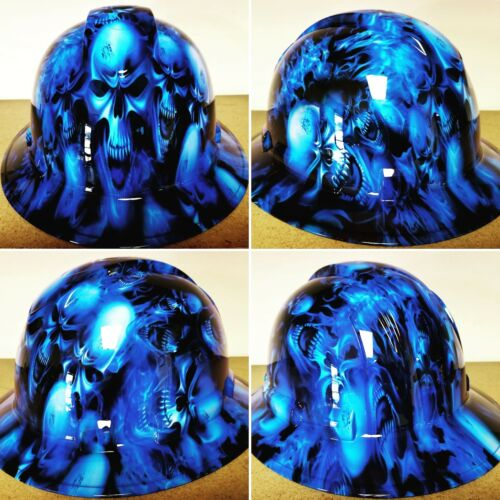 Hard Hat FULL BRIM custom hydro dipped , OSHA approved ICE SKULL LIMITED EDITION 4