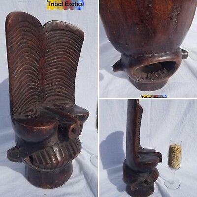UNIQUE Bamileke Batcham Headdress Mask Statue Sculpture Figure Fine African Art