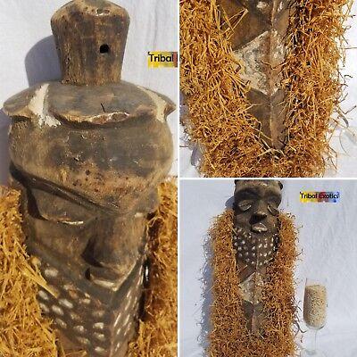 SOLEMN Bapende Pende Raffia Mask Figure Sculpture Statue Fine African Art