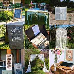 Wedding & Event Hire items. Signs, Wood Slices, Arches Macgregor Belconnen Area Preview