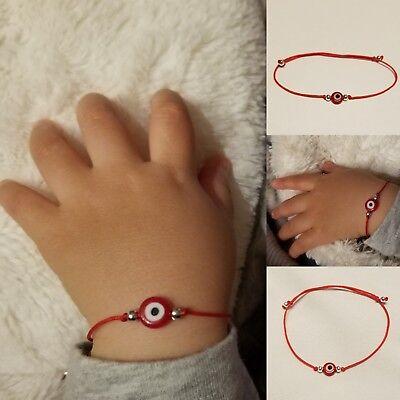 Evil Eye Red Infant Bracelet Baby Newborn Protection Azabache Mal de Ojo Niños Infant Baby Bracelet