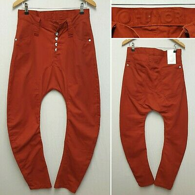 HUMOR HUMÖR SANTIAGO RED TWISTED BOW LEGGED DENIM JEANS SIZE W30 TROUSERS