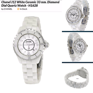 CHANEL WOMEN'S J12 33MM WHITE CERAMIC BAND QUARTZ ANALOG WATCH Fortitude Valley Brisbane North East Preview
