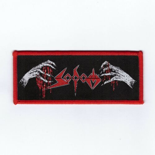 """Sodom """"Obsessed by Cruelty Hands"""" Red Border Official Woven Patch"""