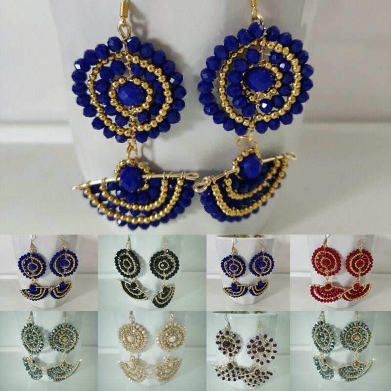 Aretes de moda de cristal , mayoreo lote  20 pares  Artesanal Méxicano.
