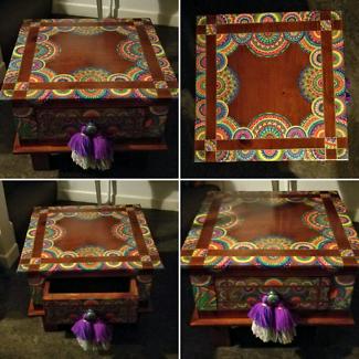 Lamp table artist restored FUNKY FURNITURE Boho Boutique