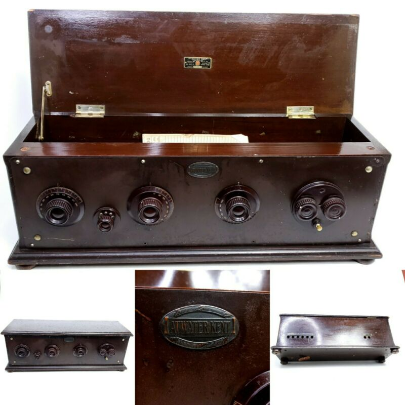 Vintage Atwater Kent Model 20 Tube Radio Receiving Set Deluxe Cabinet No Tubes