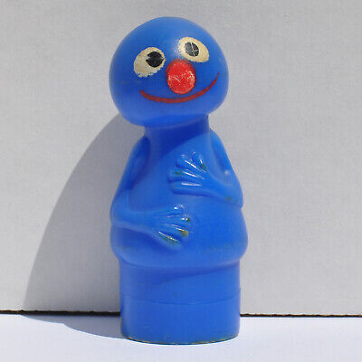Vintage Fisher Price Little People Sesame Street Grover Figure 0420!!!