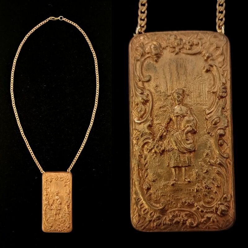 Vintage Late 1800s Rare French Victorian Madame Necklace