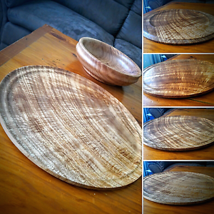 Queensland Maple bowl and platter Glengowrie Marion Area Preview