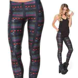Black Milk Space Invaders Leggings Size Small New Without Tags Fortitude Valley Brisbane North East Preview