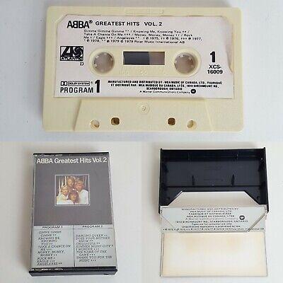 Abba Greatest Hits Volume 2 Cassette Tape Canada Release