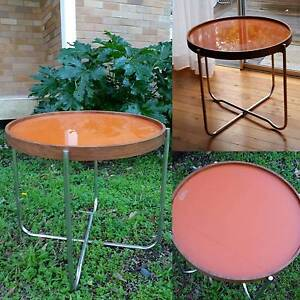 Orange glass top aide table Bilgola Pittwater Area Preview