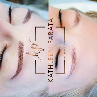 Eyebrow Feathertouch tattoo , microblading