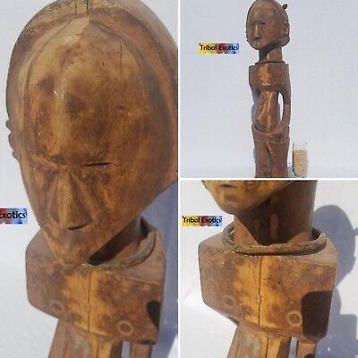 LOVELY Baluba Luba Shankadi Figure Sculpture Statue Mask Tribal African Art