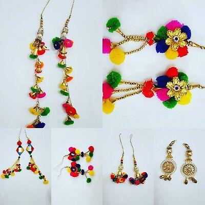 Pom Pom Saree Blouse Latkan Indian Tassel Sewing Craft Fashion accessory 1 pair  Saree Collection
