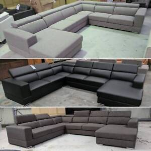 New Oakley corner lounge / Bonded leather and fabric available Eumemmerring Casey Area Preview