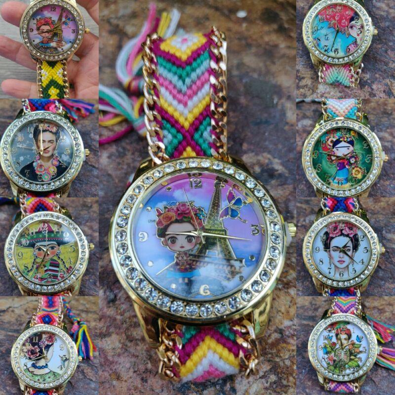 """Reloj De Frida K lote de 15 PZ +4 Mandiles """"gratis""""mayoreo  Joyeria Artesaal"""